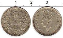 Изображение Монеты Индия 1/4 рупии 1945 Серебро XF-