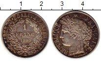 Изображение Монеты Франция 1 франк 1895 Серебро XF