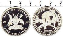 Изображение Монеты Уганда 2000 шиллингов 2003 Серебро Proof-