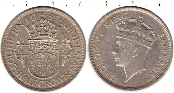 Картинка Монеты Родезия 1/2 кроны Серебро 1937