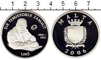 Изображение Монеты Мальта 5 лир 2006 Серебро Proof