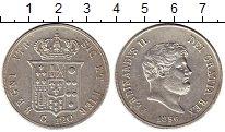 Изображение Монеты Италия Неаполь 120 гран 1856 Серебро UNC-