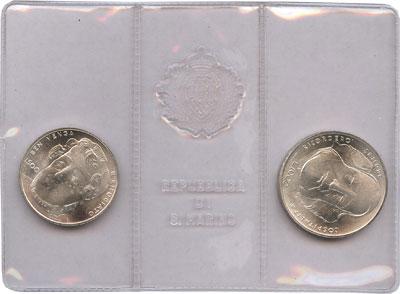 Изображение Подарочные монеты Сан-Марино Джузеппе Гарибальди 1982 Серебро UNC