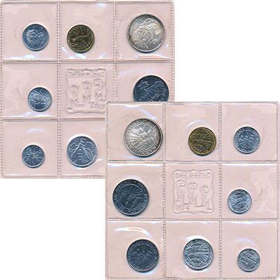 Изображение Подарочные монеты Сан-Марино Набор 1974 года 1974  UNC В набор входят восем