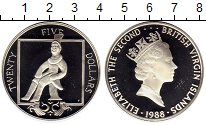 Изображение Монеты Виргинские острова 25 долларов 1988 Серебро Proof-