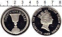 Монета Виргинские острова 25 долларов Серебро 1988 Proof- фото