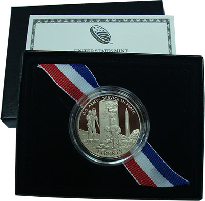 Изображение Подарочные монеты США 1/2 доллара 2011 Медно-никель Proof Армия США. Мирное об