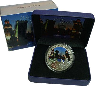 Изображение Подарочные монеты Ниуэ 2 доллара 2012 Серебро Proof Санкт-Петербург. Бел