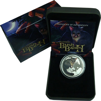 Изображение Подарочные монеты Австралия 50 центов 2013 Серебро Proof `Серия ``Зверята Авс