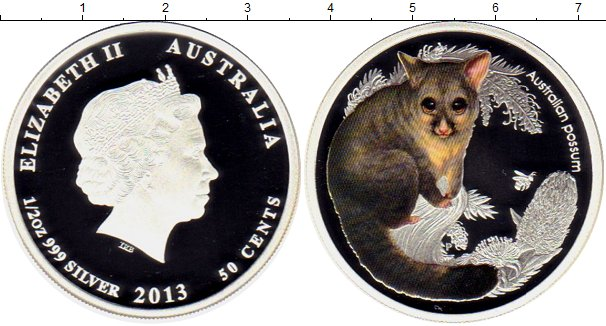 Набор монет Австралия 50 центов Серебро 2013 Proof фото 2