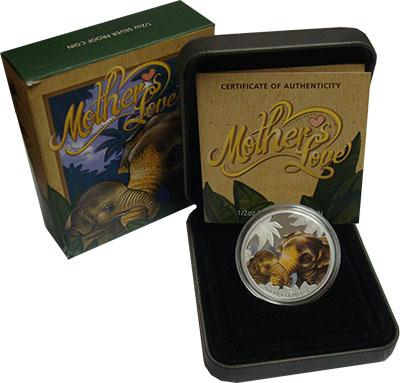 Изображение Подарочные монеты Тувалу 50 центов 2014 Серебро Proof `Серия ``Материнская