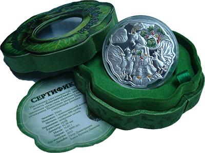 Изображение Подарочные монеты Ниуэ 1 доллар 2015 Серебро Proof Благополучия ! Монет