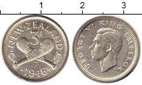 Изображение Монеты Новая Зеландия 3 пенса 1946 Серебро XF-