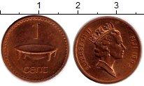 Изображение Монеты Фиджи 1 цент 1992 Бронза XF