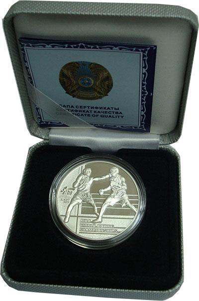 Изображение Подарочные монеты Казахстан 100 тенге 2013 Серебро Proof