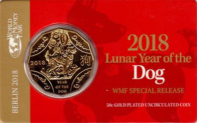 Изображение Подарочные монеты Австралия 50 центов 2018 Медно-никель UNC Монета номиналом 50