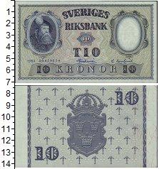 Изображение Банкноты Швеция 10 крон 1962  XF