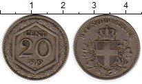 Изображение Монеты Италия 20 сентесимо 1919 Медно-никель XF-