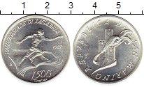 Изображение Монеты Сан-Марино 500 лир 1987 Серебро UNC