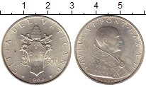 Изображение Монеты Ватикан 500 лир 1964 Серебро UNC-