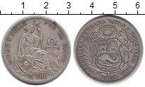 Изображение Монеты Перу 1/2 соля 1907 Серебро VF