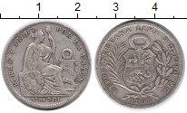 Изображение Монеты Перу 1/5 соля 1908 Серебро VF