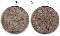 Изображение Монеты Перу 1 динер 1904 Серебро VF