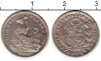 Изображение Монеты Перу 1/2 динеро 1903 Серебро VF