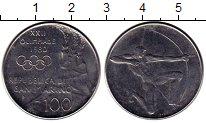 Изображение Монеты Сан-Марино 100 лир 1980 Медно-никель UNC