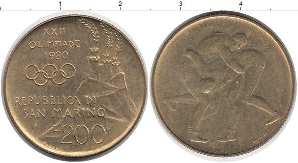 Картинка Монеты Сан-Марино 200 лир Латунь 1980