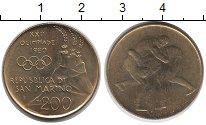 Изображение Монеты Сан-Марино 200 лир 1980 Латунь UNC