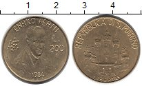 Изображение Монеты Сан-Марино 200 лир 1984 Латунь UNC