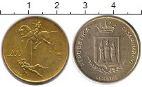 Изображение Монеты Сан-Марино 200 лир 1983 Латунь UNC