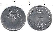 Изображение Монеты Сан-Марино 1 лира 1983 Алюминий UNC