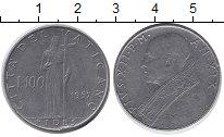 Изображение Монеты Ватикан 100 лир 1957 Медно-никель UNC