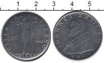 Изображение Монеты Ватикан 100 лир 1962 Медно-никель UNC