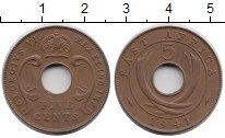 Изображение Монеты Великобритания Восточная Африка 5 центов 1941 Бронза XF-