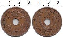 Изображение Монеты Великобритания Восточная Африка 10 центов 1942 Бронза XF-