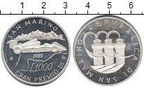 Изображение Монеты Сан-Марино 1000 лир 1989 Серебро Proof-