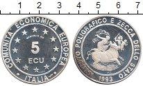 Изображение Монеты Италия 5 экю 1993 Серебро Proof-