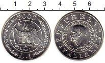 Изображение Монеты Италия 1 лира 2000 Серебро UNC