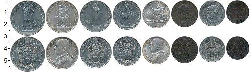 Изображение Наборы монет Ватикан Ватикан 1932 г, 1932  XF В наборе 8 монет ном