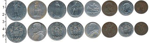 Изображение Наборы монет Ватикан Ватикан 1937 г, 1937  XF В наборе 8 монет ном