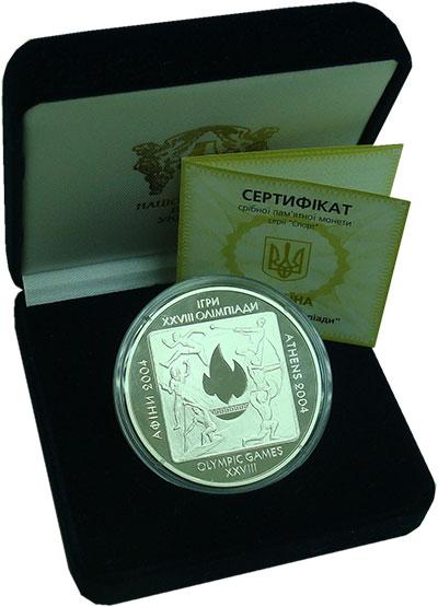 Изображение Подарочные монеты Украина 20 гривен 2004 Серебро Proof 28 Олимпийские игры.
