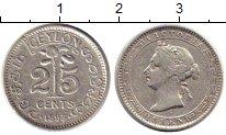 Изображение Монеты Цейлон 25 центов 1893 Серебро XF-