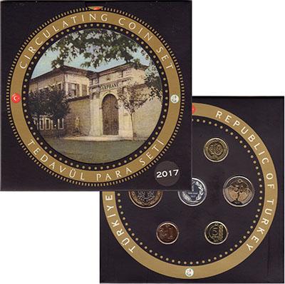 Изображение Подарочные монеты Турция Набор 2017 года 2017  UNC В набор входят шесть