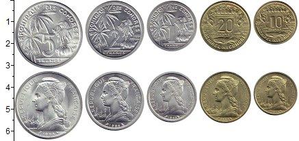 Изображение Наборы монет Коморские острова 1 франк 1964 Медно-никель UNC Редкость. В родной у