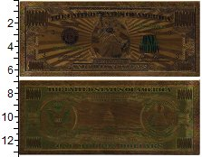 Изображение Банкноты США 1000000 долларов 0 Пластик UNC