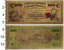 Изображение Банкноты США 100 долларов 1865 Пластик UNC