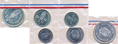 Изображение Наборы монет Франция Новые Гебриды Набор из 3 монет 0  UNC